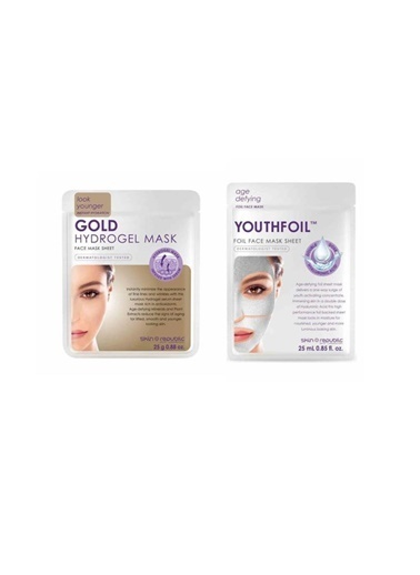 Skin Republic Skin Rebuplic Gold Hydrogel Maske 25 Gr+ Youthfoil Maske 25 Gr Renksiz